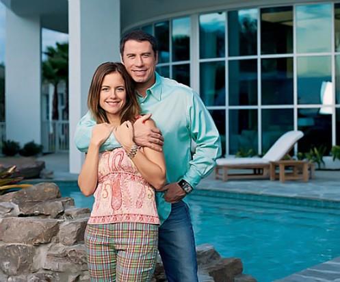 Джона Траволта и его жена Келли Престон.