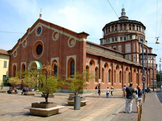 Церковь Санта Мария делле Грацие. Милан
