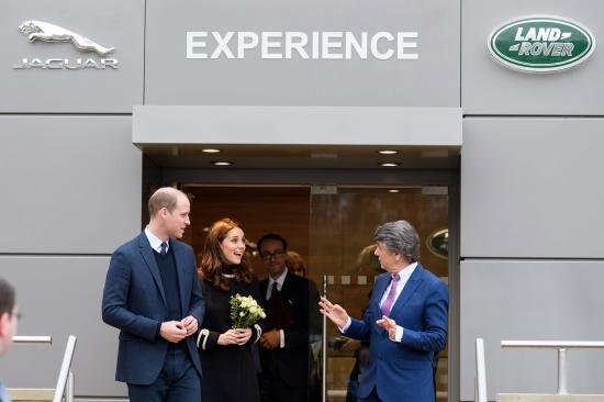 Герцог и герцогиня Кембриджские посетили  завод Jaguar Land Rover в Солихалле