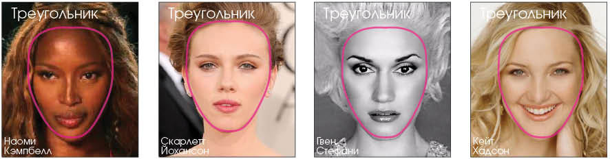 Треугольный тип лица